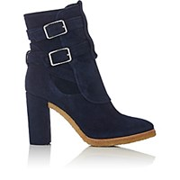 Gianvito Rossi Women's Buckle Strap Ankle Boots Navy