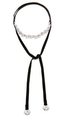 Noir Cold Hearted Choker Necklace Silver Clear