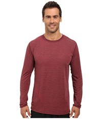 Brooks Distance Long Sleeve Top Heather Root Forge Men's Long Sleeve Pullover Brown