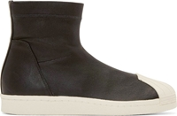 Rick Owens Black Adidas Edition Superstar Ankle Boots