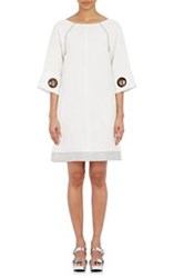 Lisa Perry Grommet Embellished Shift Dress White