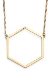 Marc By Marc Jacobs 'Lost And Found' Geometric Pendant Necklace Metallic