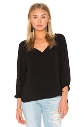 Velvet By Graham And Spencer Kimberly Rayon Challis Top Black