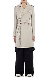 Rick Owens Men's Lightweight Canvas Trench Coat Tan