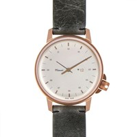 Miansai M12 Bronze And Vintage Grey Leather Watch