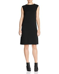 Eileen Fisher Sleeveless Wool Sweater Dress Black