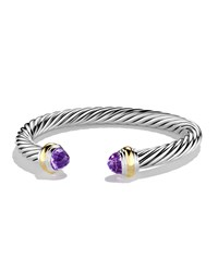 Cable Classics Bracelet With Amethyst And Gold David Yurman Purple