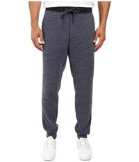 Calvin Klein Jeans Logo Waistband Sweatpants Blue Cap Heather Men's Casual Pants Black