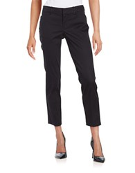 Lord And Taylor Cropped Stretch Pique Pants Deep Navy