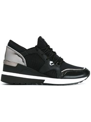 Michael Michael Kors Wedge Mid Top Sneakers Black