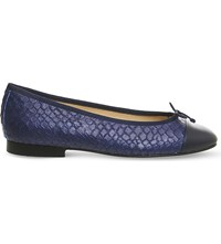 Office Rosa High Snake Embossed Leather Pumps Blue Leather