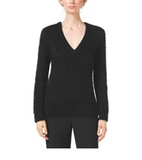 Michael Kors Mohair V Neck Sweater Black