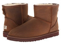 Ugg Classic Mini Deco Chestnut Leather Men's Boots Brown