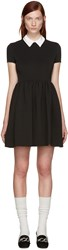 Miu Miu Black Contrast Collar Dress