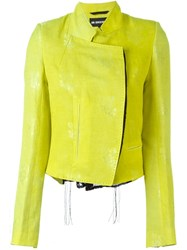 Ann Demeulemeester Floral Jacquard Jacket Yellow And Orange