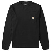 Carhartt Long Sleeve Pocket Tee Black