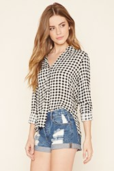 Forever 21 Checkered Button Down Shirt