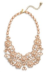 Women's Kate Spade New York 'At First Blush' Floral Bib Necklace
