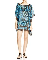 Carmen Marc Valvo Sahara Tunic Swim Cover Up Black