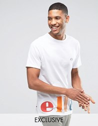 Ellesse T Shirt With Colourblock Logo White