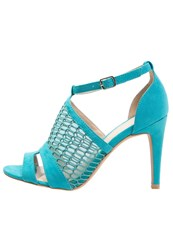 Anna Field High Heeled Sandals Peacock Blue Turquoise