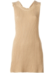 Stella Mccartney Racerback Style Top Nude And Neutrals