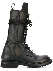 Rick Owens Army Boots Black