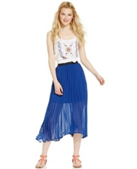 American Rag Pleated Illusion Midi Skirt