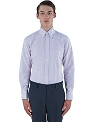 Thom Browne Classic University Striped Oxford Shirt Red