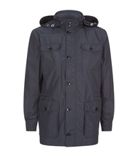 Peter Millar Windbreaker Safari Jacket Male Navy