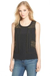 Women's Lucky Brand Beaded Crepe Tank