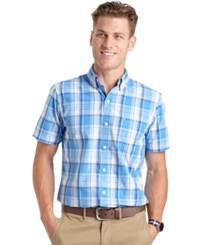 Izod Big And Tall Large Plaid Short Sleeve Shirt