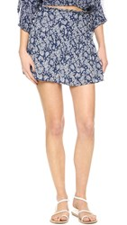 Minkpink Waiting Wishing Ruffle Skirt Navy White