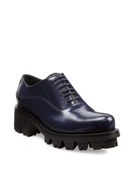 Prada Lug Sole Leather Lace Up Oxfords Baltico