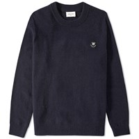 Wood Wood Yale Crew Knit Blue