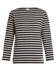 Orcival Breton Striped Cotton Top Navy Stripe