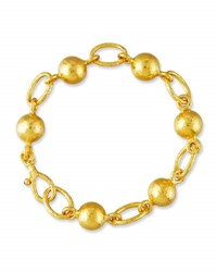 Gurhan Balloon Ball And Chain Bracelet In 24K Gold
