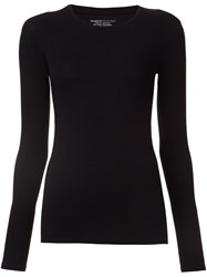 Majestic Filatures Long Sleeved T Shirt Black