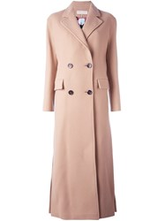 Emilio Pucci Side Cut Long Coat Nude And Neutrals