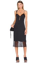 House Of Harlow X Revolve Emma Lace Hem Slip Dress Black