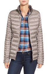 Barbour Women's 'Clyde' Baffle Quilt Puffer Jacket Taupe