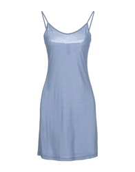 Ekle' Short Dresses Slate Blue