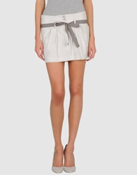 H. Eich Mini Skirts Ivory