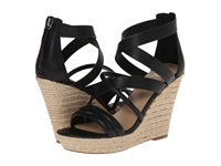 Joe's Jeans Robina Black Leather Women's Wedge Shoes