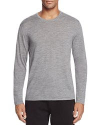 Bloomingdale's The Men's Store At Merino Wool Crewneck Sweater Med Heather Grey