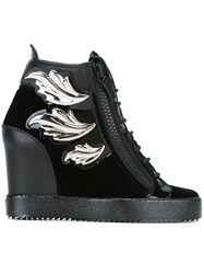 Giuseppe Zanotti Design 'Cruel' Wedge Sneakers Black