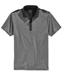 Guess Men's Heather Mason Polo Shirt Gunmetal Grey Heather Multi