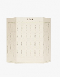 One Year Wall Calendar 2015