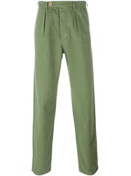 Bleu De Paname Relaxed Fit Trousers Green