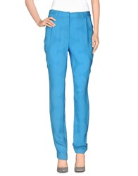 Pedro Del Hierro Trousers Casual Trousers Women Turquoise